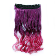 24 inches Ombre Colorful Clip in Hair Wavy 26# Purple/Rosy 1 Piece