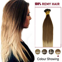 16 inches Ombre #12/20 50S Stick Tip Human Hair Extensions Straight