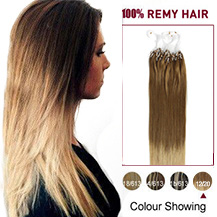 "24"" Ombre(#12/20) Micro Loop Human Hair Extensions"