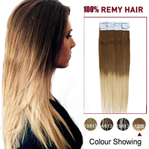20 inches Ombre (#12/20) Tape In Human Hair Extensions