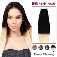 18 inches Ombre (#1/613) Tape In Human Hair Extensions