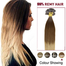 16 inches Ombre #12/20 50s Nail Tip Human Hair Extensions
