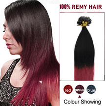 "22"" Ombre #1b/bug 50s Nail Tip Human Hair Extensions"