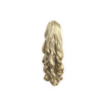 Claw Clip-on Fluffy Long Ponytail White Blonde 1 Piece