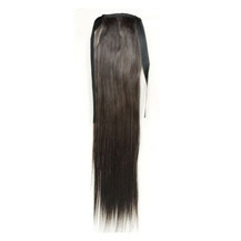 Bundled Long Straight Ponytail Black 1 Piece