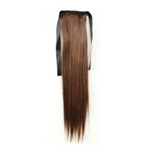 14 Inches Human Hair Bundled Long Straight Ponytail Flax Yellow 1 Piece