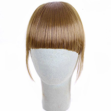 Neat Bang With Human Hair On The Temples Golden Brown 1 Piece