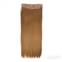 24 inches Golden Brown(#12) One Piece Clip In Synthetic Hair Extensions