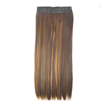 24 inches Brown Blonde(#4/27) One Piece Clip In Synthetic Hair Extensions