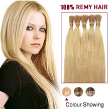 18 inches Ash Blonde (#24) 100S Stick Tip Human Hair Extensions