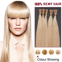 "18"" Bleach Blonde (#613) 100S Stick Tip Human Hair Extensions"
