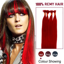 16 inches Red 50S Stick Tip Human Hair Extensions