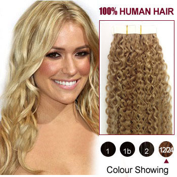 30 Golden Ash Blonde 12 24 20pcs Curly Tape In Human Hair Extensions Big Discounts Up To 81 Off Markethairextension