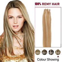"22"" #12/613 Tape In Human Hair Extensions"