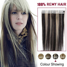 18 inches Black Blonde (#1b/613) 20pcs Tape In Human Hair Extensions