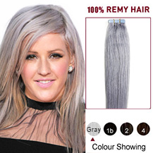 "22"" Gray Tape in Human Hair Extensions"