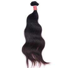 10 inches Natural Black (#1b) Body Wave Peruvian Virgin Hair Weft