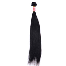 18 inches Natural Black (#1b) Straight Peruvian Virgin Hair Weft
