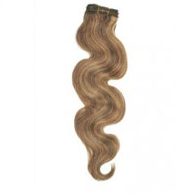 "16"" Brown/Blonde (#4/27) Body Wave Indian Remy Hair Wefts"