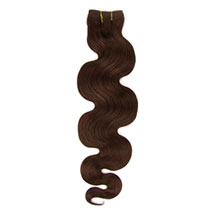 14 inches Medium Brown (#4) Body Wave Indian Remy Hair Wefts
