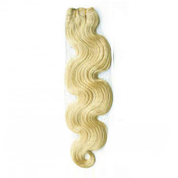 24 inches White Blonde (#60) Body Wave Indian Remy Hair Wefts