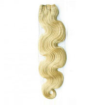 "16"" White Blonde (#60) Body Wave Indian Remy Hair Wefts"