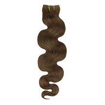 "16"" Light Brown (#6) Body Wave Indian Remy Hair Wefts"