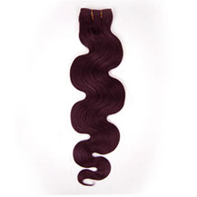 10 inches 99J Body Wave Indian Remy Hair Wefts