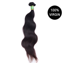 18 inches Natural Black (#1b) Body Wave Brazilian Virgin Hair Wefts