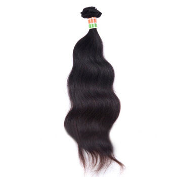 16 inches Natural Black (#1b) Body Wave Indian Virgin Hair Wefts