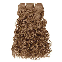 16 inches Golden Brown (#12) Curly Indian Remy Hair Wefts