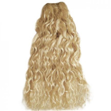 12 inches Ash Blonde (#24) Curly Indian Remy Hair Wefts