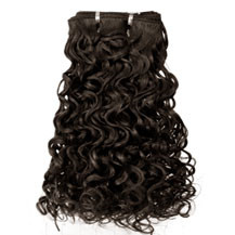 12 inches Medium Brown (#4) Curly Indian Remy Hair Wefts