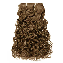 10 inches Ash Brown (#8) Curly Indian Remy Hair Wefts