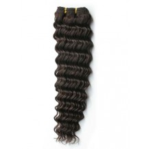 14 inches Dark Brown (#2) Deep Wave Indian Remy Hair Wefts