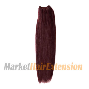12 inches 99J Straight Indian Remy Hair Wefts