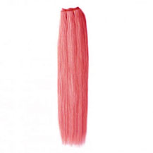 16 inches Pink Straight Indian Remy Hair Wefts