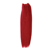 28 inches Red Straight Indian Remy Hair Wefts
