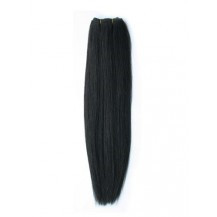 24 inches Natural Black (#1b) Straight Indian Remy Hair Wefts