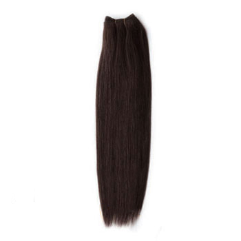 12 inches Dark Brown (#2) Straight Indian Remy Hair Wefts