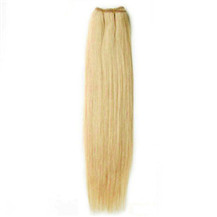 14 inches Ash Blonde (#24) Straight Indian Remy Hair Wefts