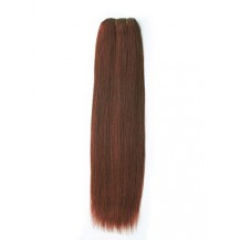 28 inches Dark Auburn (#33) Straight Indian Remy Hair Wefts