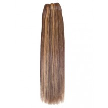 14 inches Brown/Blonde (#4/27) Straight Indian Remy Hair Wefts