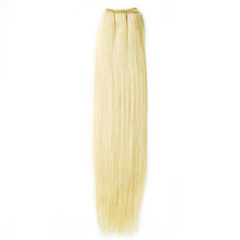 "18"" White Blonde (#60) Straight Indian Remy Hair Wefts"