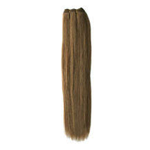 28 inches Ash Brown (#8) Straight Indian Remy Hair Wefts