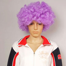 Fashionable Wig For Sports Curly Purple