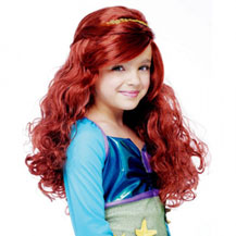 Children's Costume Wig Wavy Auburn
