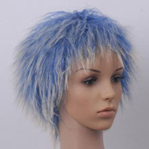 Costume Wig For Party Straight Blue Highlight