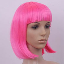 Costume Wig For Party Straight Pink