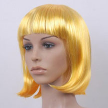 Costume Wig For Party Straight Yellow